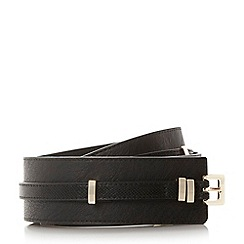 Dune - Black 'Ninaa' double profile belt