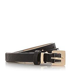 Dune - Black 'Natty' studded skinny belt