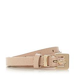 Dune - Light pink 'Natty' studded skinny belt