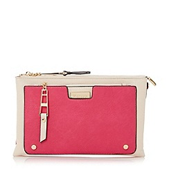 Dune - Red multi compartment clutch bag