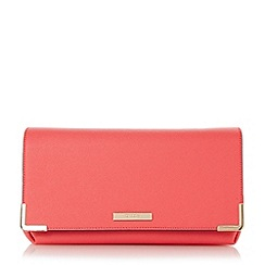 Dune - Pink fold over frame detail clutch bag
