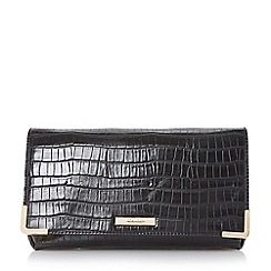 Dune - Black-synthetic 'Edee' fold over frame detail clutch bag