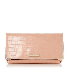 Dune - Neutral fold over frame detail clutch bag