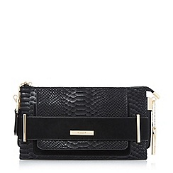 Dune - Black double pouch clutch bag