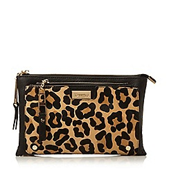 Dune - Leopard-pony 'Double' pouch removable pk