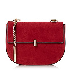 Dune - Red 'Evita' snake chain mini saddle bag