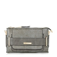 Dune - Grey 'Emma' double pouch clutch bag