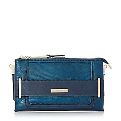 Dune - Navy 'Emma' double pouch clutch bag