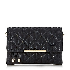 Dune - Black 'Emeni' quilted clutch bag