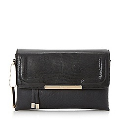 Dune - Black 'Emory' foldover multiple compartment clutch bag