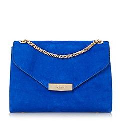 Dune - Blue 'Eddison' flap over chain detail shoulder bag