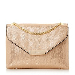 Dune - Rose 'Eddison' flap over chain detail shoulder bag