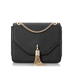 Dune - Black 'Elina' metal tassel detail boxy bag