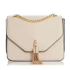 Dune - Cream 'Elina' metal tassel detail boxy bag