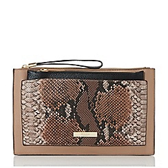Dune - Taupe 'Essa' removable pouch clutch bag
