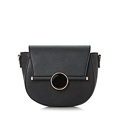 Dune - Black 'Ebonnie' circle detail saddle bag