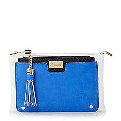 Dune - Blue multi compartment clutch bag