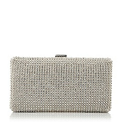 Dune - Metallic diamante hard case clutch bag