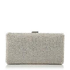 Dune - Metallic diamante hard case clutch bag