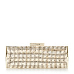Dune - Gold 'Esmerelda' diamante hard case clutch bag