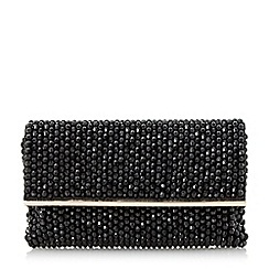 Dune - Black 'Eternity' beaded clutch bag