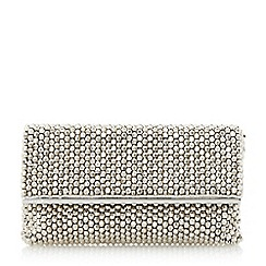 Dune - Silver 'Eternity' beaded clutch bag