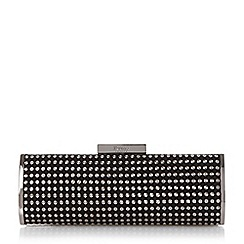 Dune - Silver 'Essie' studded clutch bag