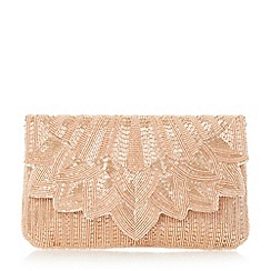 Dune - Rose 'Eloise' petal beaded clutch bag