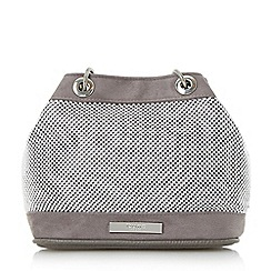 Dune - Grey 'Elysha' beaded duffle  bag