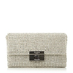 Dune - Metalic fold over clutch bag
