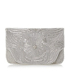 Dune - Metallic beaded clutch bag