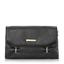 Dune - Black grab handle clutch bag