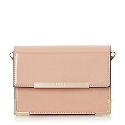 Dune - Neutral fold over box clutch bag