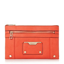 Dune - Red 'Esarah' mixed material double pouch clutch bag