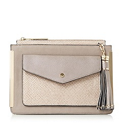 Dune - Grey 'Edalma' front pocket cross body bag