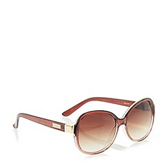 Dune - Brown 'Gabie' gradual tinted oval sunglasses