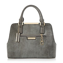 Dune - Grey 'Domino' multi compartment handbag
