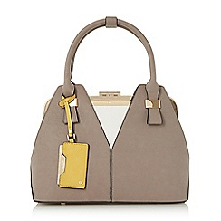 Dune - Grey 'Dorah' colour block frame detail handbag limited edition