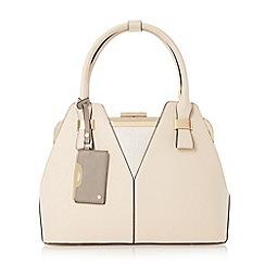Dune - Natural 'Dorah' colour block frame detail handbag limited edition