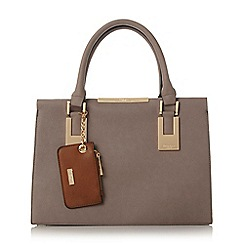 Dune - Grey 'Deedee' colour block structured handbag