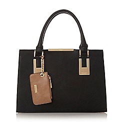 Dune - Black 'Deedee' colour block structured handbag