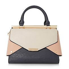 Dune - Multicoloured 'Delaney' fold over panels tote bag