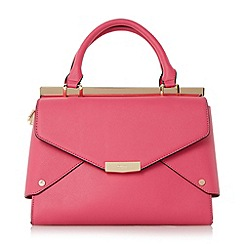Dune - Bright pink 'Delaney' fold over panels tote bag