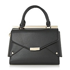 Dune - Black 'Delaney' fold over panels tote bag