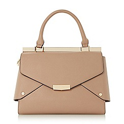 Dune - Taupe 'Delaney' fold over panels tote bag