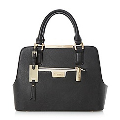 Dune - Black multi compartment handbag