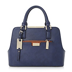 Dune - Navy multi compartment handbag