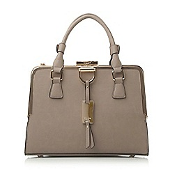 Dune - Synthetic structured metal frame top handbag