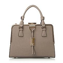 Dune - Synthetic structured metal frame top handbag