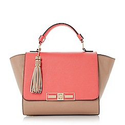 Dune - Pink colour block winged handbag